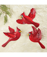 Christmas Cardinal Wall Decor - Set of 3 - $26.16