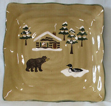 Sonoma Home Lodge Square Dinner Plate Bear - $34.54