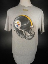 Cool Men's Large NFL Pittsburgh Steelers Gray Short Sleeve T-Shirt GUC - $22.48