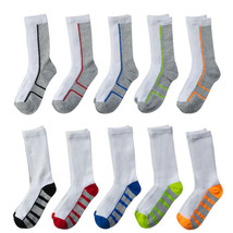 Boys Tek Gear Lightweight 10-Pack Performance Crew Socks -= Size 7 - 8 1/2 - $15.99