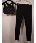Pink Victoria Secret Womens Yoga Pants Top Star Studded Bra Set Black M - $29.70
