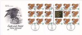 EAGLE & SHIELD #2597 PANE OF 18 DAYTON, OHIO SEPTEMBE 25, 1992 ARTCRAFT - $5.39