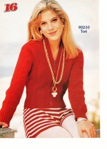 Tori Spelling teen magazine pinup clipping vintage 90's red sweather 90210 Bop