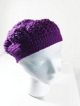 Purple beret, girls lace hat, magenta hat, ladies cap mini - $12.00