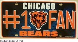 Bears #1 Fan NFL Embossed Metal Novelty Souvenoir License Plate Tag Sign - $9.95