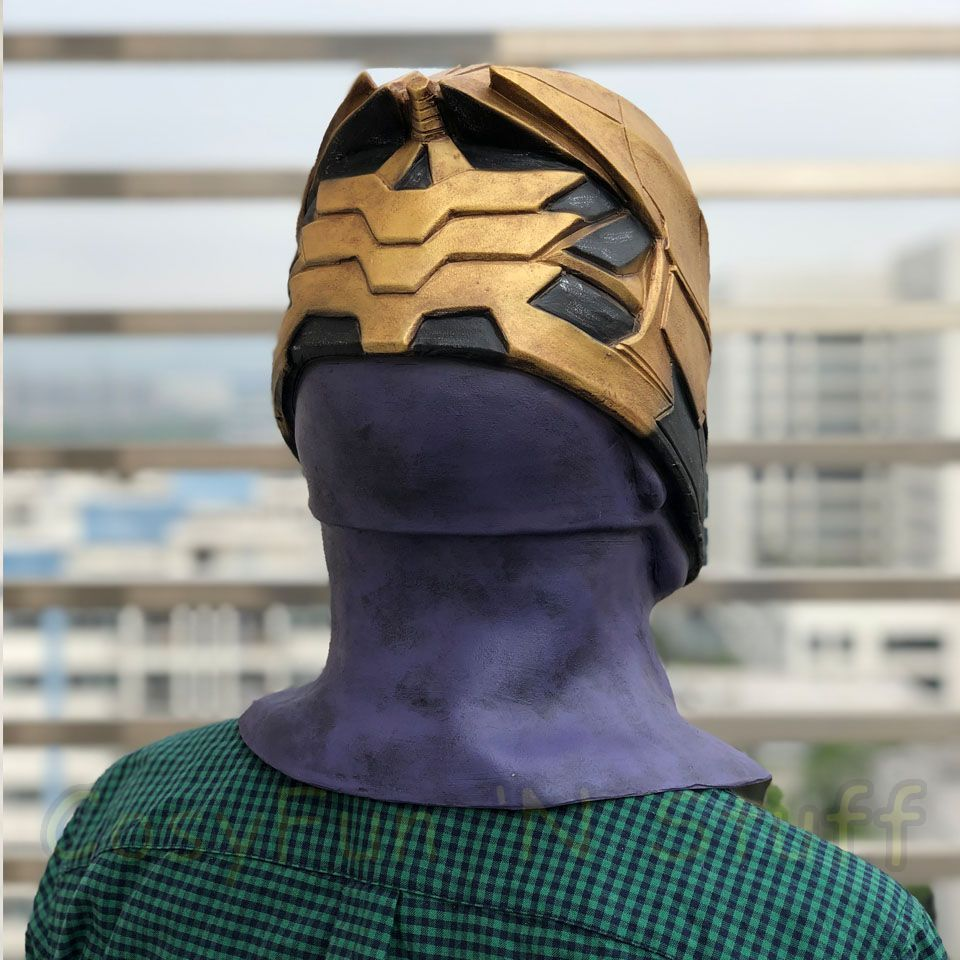 New Endgame Thanos Mask Infinity War Avengers EndGame Costume Mask Handmade image 5