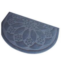 Door Floor Ground Mat Carpet Semi-circle Embossed 50x80cm - $21.99