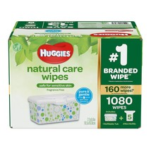 Huggies Natural Care Baby Wipe Refill, Fragrance Free (1,080 ct.) - $29.69