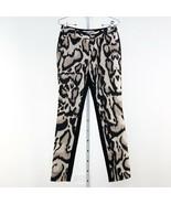 Women's Diane Von Furstenberg Black Animal Print Mary Pant sz 2 - $71.60