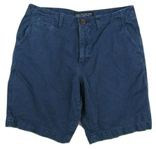 """American Eagle Outfitters Classic Fit Flat Front Shorts Blue Men's W32 Inseam 9"""" - $24.26"""