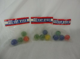 Vintage Vitro Cat Eye Marbles 3 bags unopened with 4 marbles each - $29.99