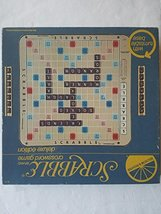 Scrabble Deluxe 1977 Edition Plastic rotating Turntable game Board With ... - $39.19