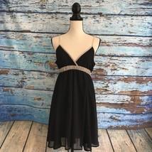 Charlotte Russe Womens Dress Size M Black Flowy Mini Adjustable Spaghetti Straps - $11.53