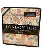 LONDON FOG Rich Paisley Floral Multicolor Pattern Queen Sheet Set, 6 pcs... - $85.64