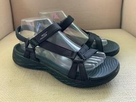 Skechers On The Go Black Go Go Max Slingback Comfort Sandals Womens US 9 - $16.69