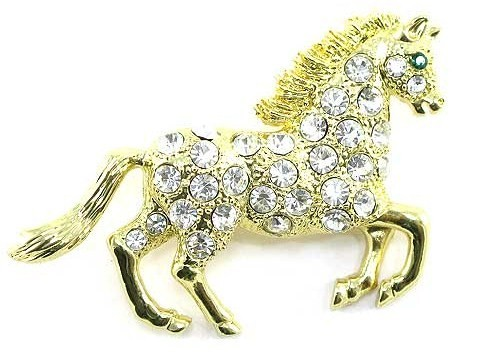 Bp76 horse gold br 2.25 in