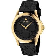 Gucci YA1264034 G-Timeless Unisex PVD Gold plated Slim Watch - $888.64