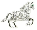 Bp77 horse silver brooch 2.25 in thumb155 crop
