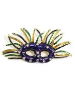 "2.7"" Colorful Party Mask Masquerade Crystal Brooch BP78 - $9.99"
