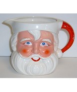 Large Vintage SANTA Egg Nog Pitcher - $22.99