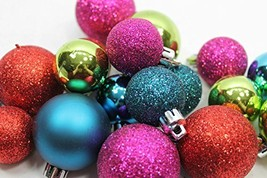 20 Holiday Time Mini Shatterproof Satin Shiny and Glitter Finish Bulb Ch... - $13.02