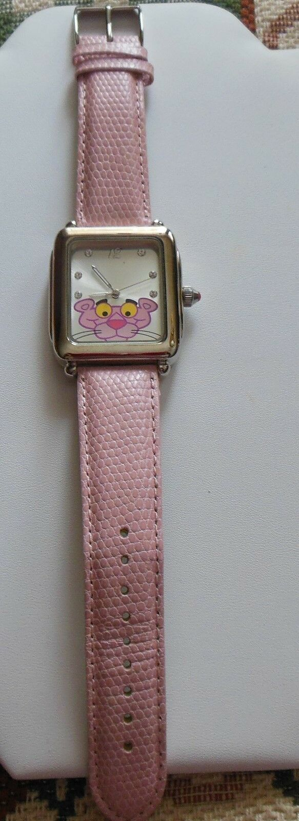 Primary image for Vintage Pink Panther Watch W/ Leather Band