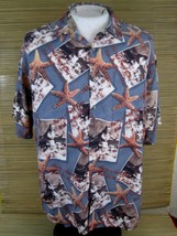 Hawaiian ALOHA shirt XL 24 pit to pit CAMPIA MODA rayon vtg beach girl s... - $16.65