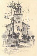 1922 vintage print of St. George's Church Hempstead N. Y. Print by O.R. ... - $12.99