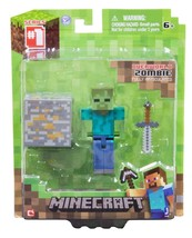 Minecraft Overworld 3 inch Action Figure Pack - Zombie - 16509 - NEW - $15.36