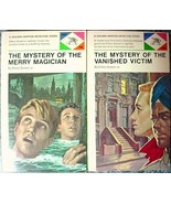 2 Lot Ellery Queen Jr mysteries MERRY MAGICIAN & VANISHED VICTIM like ne... - $20.00