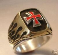 NORMAN Cross,Flame ring.....Sterling Silver