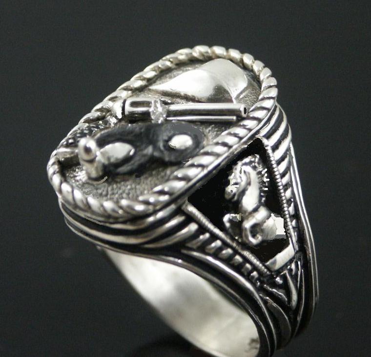 Last Texas Ranger Silver Bullet ring sterling silv