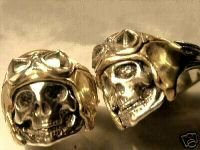 WWII AXIS Aviator Skull Ring......Sterling Silver