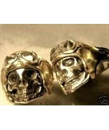WWII AXIS Aviator Skull Ring......Sterling Silver - $60.00