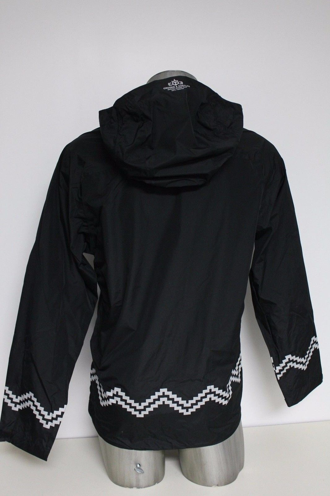 New Crooks & Castles Men's Woven Jacket Polyester Port Authority Black Size XL image 6