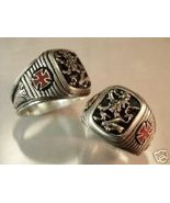 LionHeart Cross Men's Signet ring Sterling Silver,Lge. - $88.00