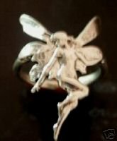 Fairy Art Noveau ring......Antiqued Sterling Silver