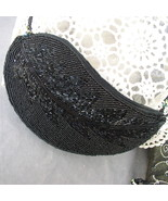 Handbag Black Beaded Evening Purse - $25.00