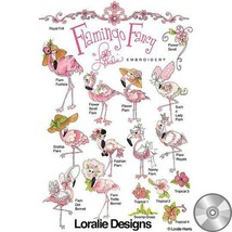 FLAMINGO FANCY Embroidery CD by Loralie Designs ~ 16 Designs - $33.65