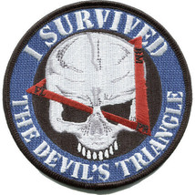 US Army Bermuda Triangle Patch  4.0'' x 4.0'' I Survived this Devils Triangle - $13.85