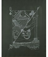 """Queen of Spades"" by Man Ray Signed Ltd Edition #90/120 Etching 26""x20"" - $1,906.88"
