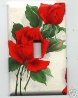 Beautiful Red Roses OS Single Light Switchplate Cover