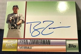 RYAN ZIMMERMAN 2006 TOPPS AUTOGRAPHS GREEN AUTO World Champions National... - $18.37