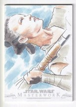 2019 TOPPS Star Wars Masterwork Sketch Card Alex Iniguez / Rey - $154.44