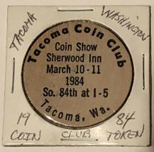 Vintage Tacoma Coin Club Wooden Nickel Tacoma Washington 1984 - $4.94