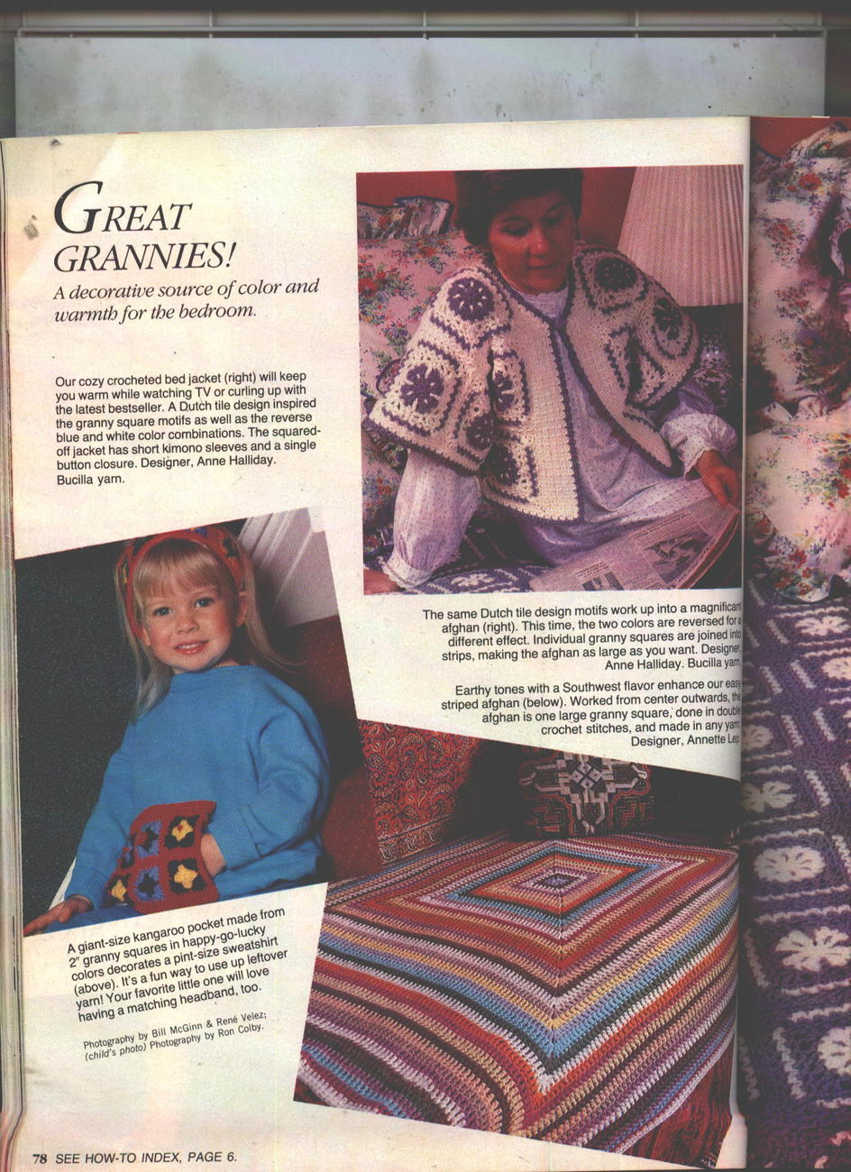 Family Circle Knitting Patterns : Family Circle Knitting & Crochet August 1987 Sweaters Patterns Clothing -...