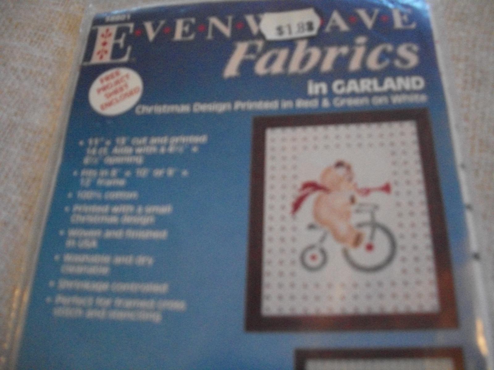 Evenweave Fabric Christmas Design - $5.00