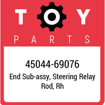 45044-69076 Toyota Tie Rod End, New Genuine OEM Part - $90.00
