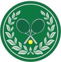 """4"""" Tennis Crossed Racquet Thick Rubber Coaster 4pc/pack - Green - $15.99"""