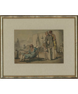 Harold Hope Read (1881-1959) - Framed Pen and Ink Drawing, Holiday Makers - $527.76